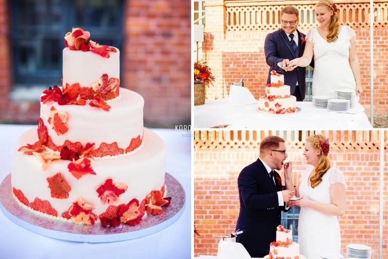 Stober Landgut Hochzeitsfotograf Nauen Hochzeitstorte Schneiden