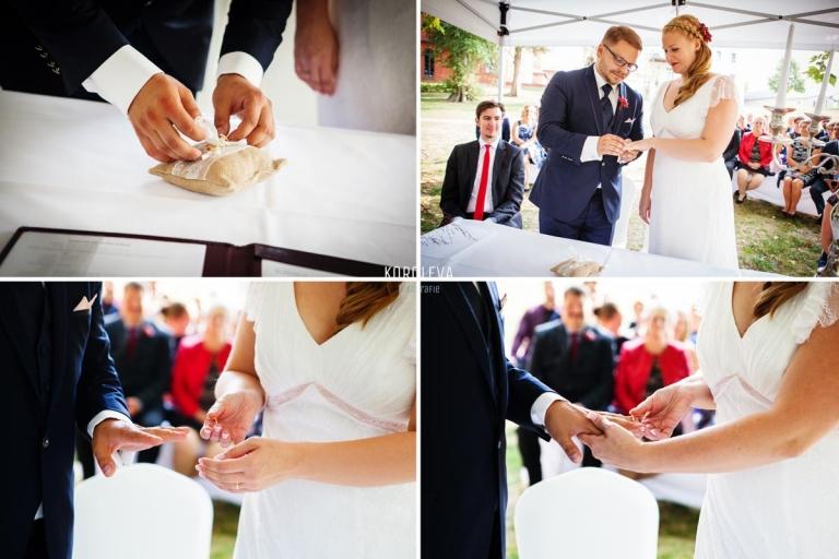 Stober Landgut Hochzeitsfotograf Nauen Trauung im Freien