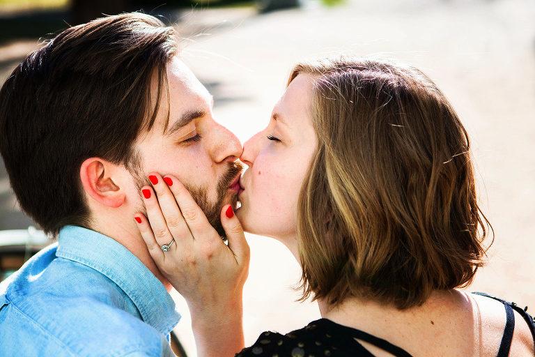 Kuss, Verlobung, Fotoshootings, Brautpaar